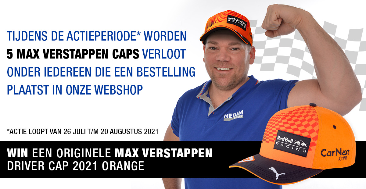 Max Verstappen cap winnen